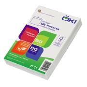 ÖKI Kuvert C6 114x162mm weiß, 80 gr. Haftstreifen, 50 Stk.