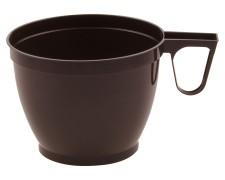 Einweg-Kaffeetasse Henkeltasse 180 ml mit geschlossenem Griff, PS braun, 60 Stk.