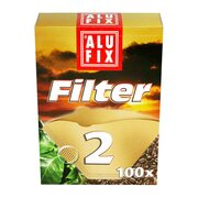 ALUFIX Kaffee Filterpapier Kaffeefilter ungebleicht Größe 2, 100 Stk.