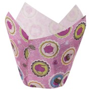 Muffin-Tulip-Wraps, Buttons, 160x160 mm, 24 Stk.