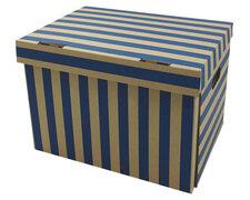 Archivbox 400x320x290mm gestreift extrem stabil, bis 250kg stapelbar