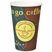 Kaffeebecher Coffee ToGo COFFEE DREAMS Pappe beschichtet  10oz. 250 ml  50 Stk.