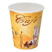 Kaffeebecher CofeToGo Pappbecher Design CAFE DE` PARIS  8oz 200 ml, 50 Stk.