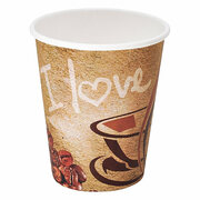 Kaffeebecher CofeToGo Pappbecher I LOVE COFFEE 8oz 200 ml, 50 Stk.