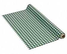 Tischdecke Tischtuch 110cm x 10m mit Alkoholschutzlackierung, LDPE, grün karo