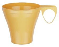 Premium Espressotasse Henkeltasse Kaffeetasse 8cl | 80ml beige PS, 40 Stk.