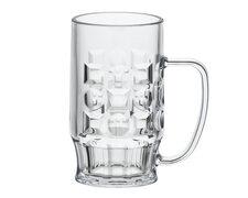 Mehrweg Bierkrug Bierkrüge Bierglas glasklar bruchfest 0,4l 400ml Eichstrich