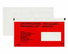 DOCUFIX Dokumententaschen *Lieferschein/Rechnung*Schweiz 245x125+20mm,  250 Stk.
