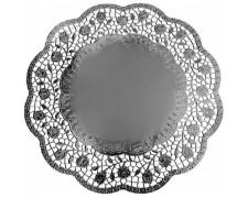 Deko-Tortenspitzen rund, silber, Ø 36 cm, 4 Stk.