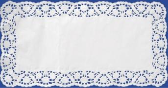 Deko-Tortenspitzen eckig, weiß, 36 x 46 cm, 100 Stk.