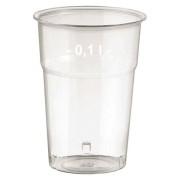 Brillant klare Trinkgläser 100ml mit Füllstrich, Ø 57 mm, 50 Stk.