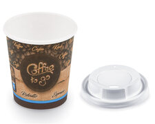 Coffee To Go Becher Espresso Ristretto mit Trinkdeckel 80 ml 110 ml,  50 Stk.