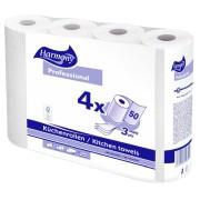 Küchenrollen Harmony Professional  50 Blatt FSC-zertifiziert, 4 Stück