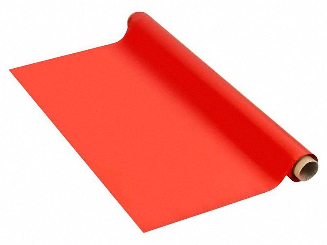 Tischdecke Tischtuch 110cm x 10 m mit Alkoholschutzlackierung aus PE, rot