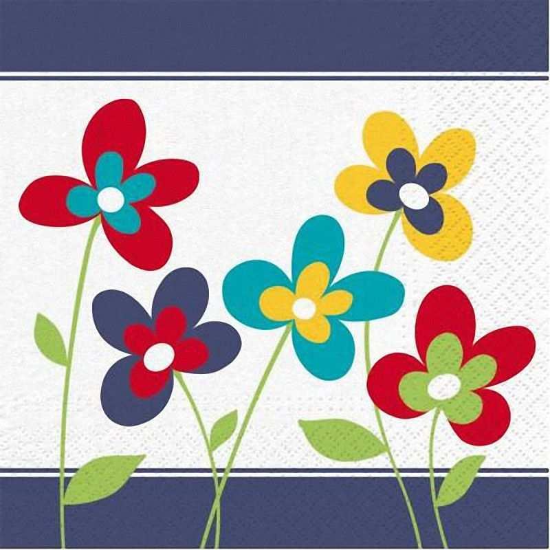 Party servietten 3 lagig 33 x 33 cm bunt design summer for Tisch design servietten