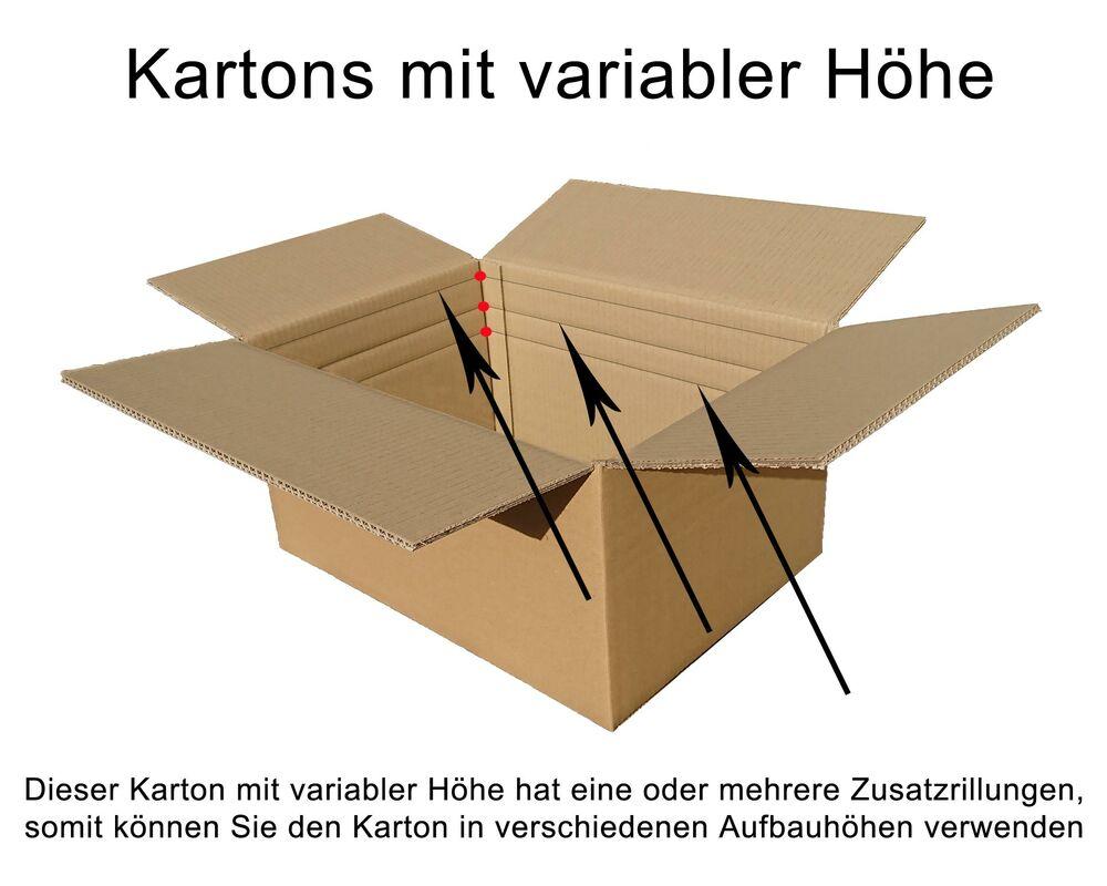 Faltkarton  800x550x(300)-550mm VARIABLE HÖHE, 2wellig