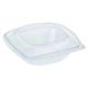 BIO Salatschalen mit Deckel aus Bio-Kunststoff (PLA) transparent 720ml 50 Stk.